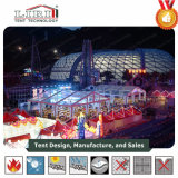 Transparentes Zelt mit innerer Dekoration für im FreienHochzeitsfest