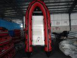 Crogiolo di gomma gonfiabile di barca del blu marino della nave di soccorso del rifornimento della fabbrica