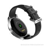 acier inoxydable Smart montre avec moniteur de fréquence cardiaque (K88H)
