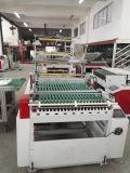Heiße Ausschnitt-Seiten-Dichtungs-Maschinen-Plastikshirt-Beutel, der Maschine herstellt