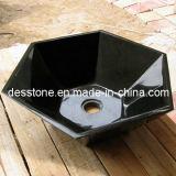 Grante negro absoluto para el fregadero hexagonal