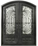Portas dianteiras de bronze antigas do ferro das portas de entrada do ferro do mais baixo preço