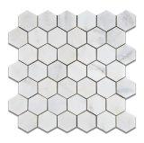 Mármol Calacatta Oro mosaico Hexagonal baldosa de mármol blanco