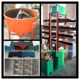 Borracha Tile Vulcanizing Press / Rubber Tile Making Machine / Rubber Tile Machine