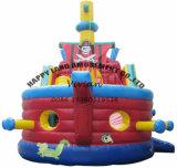 遊園地の運動場の膨脹可能な海賊ボート