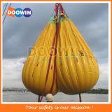 25la tonne du poids des sacs remplis d'eau Test de charge de la grue