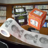Obama imprimiu o tecido de banheiro personalizado imagem do rolo do papel higiénico