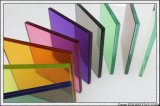 Vidro Tempered colorido de vidro laminado para corrimão/parede de cortina