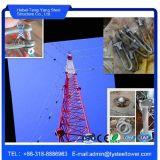 Башня Guyed связи 3 ног твердая круглая стальная