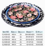 Conjuntos de bandeja de servir, Bandeja de melamina redonda / quadrada para o mercado europeu