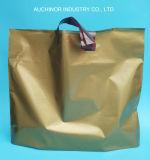 工場はプラスチックショッピングハンドル袋にポリ袋をする