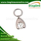 Anello chiave del carrello della moneta di acquisto per la promozione