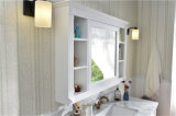 Single Sink Solid Oak Marble Counter Tops Bois Meubles de salle de bain modernes