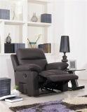 Sofá del cuero genuino de la sala de estar (C822)