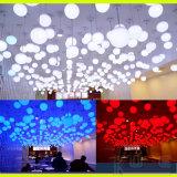 Decoratieve RGB Gloeiende LEIDENE van de Bol Hangende Plastic Ballen