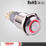 16 mm iluminada-Ring TUV, UL, interruptor de luz LED Push Button