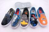 子供の注入の履物の子供のズック靴のスケートの靴(HH1122)