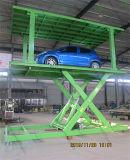 Garagem de plataforma dupla carro elevador