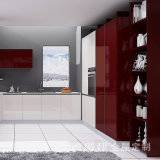 Alto estilo moderno de la cabina de cocina de la laca del MDF de los muebles de la cocina del lustre