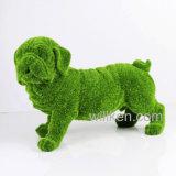 Sculpture assemblée verte fabriquée à la main en crabot de Polyresin de décors d'intérieur