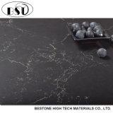 Laje cinzenta da pedra de quartzo do projeto moderno da cor com veias douradas