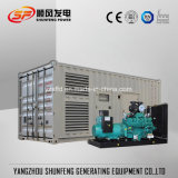 910kVA schalldichter Cummins elektrischer Strom-Dieselgenerator mit leisem Behälter