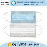 タイが付いている使い捨て可能な3ply看護婦マスク