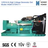 1250kVA Googolエンジン50Hzを搭載する高圧発電機セット10-11kv