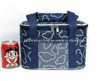 Sacchetto isolato del pranzo con un sacchetto più freddo isolato resistente delle 2 di modo chiusure della chiusura lampo per il picnic inferiore duro del sacchetto del dispositivo di raffreddamento del telefono