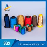 Cuerda de rosca de costura 100% del bordado del hilo para obras de punto de la tela del poliester