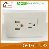 1pista1 Interruptor Eléctrico +3pole uma tomada de parede de fácil utilização