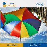 巨大な8′ 虹のビーチパラソル