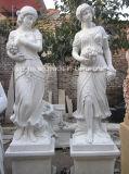 O branco puro de mármore tempera estátuas