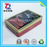 Коробка олова металла подарка Rectangel с шарниром, Tinplate еды