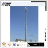 Torre monopolar del polígono de 40 M con el equipo sin hilos