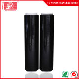 Película resistente del negro de la película de estiramiento del rasgón excelente los 6000m Corloful LLDPE