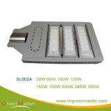 SL002A 300W Rua LED Verde Claro Chip LED Bridgelux Master