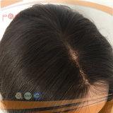 Peluca superior llena del pelo humano del frente del cordón mono (PPG-l-01325)