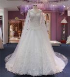 Lace Suite vestido de casamento Luxo Árabe vestido de Esferas Wgf032