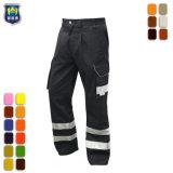 耐久財65%ポリエステル35%綿の安全裂け目停止メンズ貨物ズボン