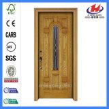 Porte intérieure moulée par HDF/MDF de Bubingga de placage en bois de coutume (JHK-012)
