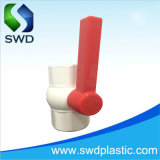 Alça longa octogonal de PVC as válvulas de esfera