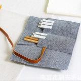 Los pequeños sacos de fieltro para Pen DIY bolsa de fieltro fieltro Caja de lápices de colores