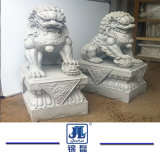 La sculpture en pierre fabriqués à la main d'animaux/Marbre Granit Lion pour la décoration de jardin/chambre