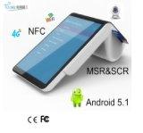 Android 5.1 Bluetooth Thermodrucker und Barcode-Scanner alle im Positions-Terminal NFC EMV mit WiFi 4G und Registrierkasse PT7003