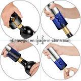 Аккумуляторные электрические бутылок вина из нержавеющей стали автоматическая аттракционы с сеткой режущего механизма - вакуум, свободной от вина и упоров Pourer (серебристый) Esg10385