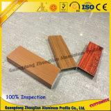 Perfil de aluminio de la protuberancia con el grano de madera 3D para el perfil del tubo