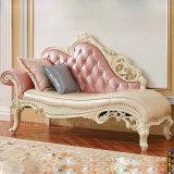 Presidenza di salotto classica del Chaise con colore facoltativo del cuoio del sofà (97)