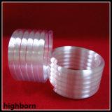 Borrar el tubo de cristal espiral fundido de cuarzo