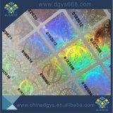 Kundenspezifischer hoher Quanlity schwarzer Barcode-Zahl-Hologramm-Aufkleber